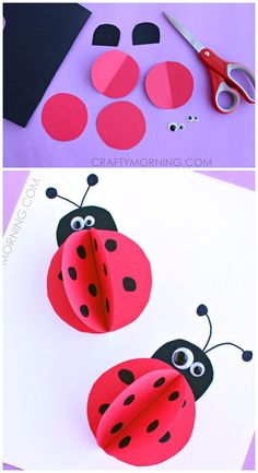 paper ladybug craft for kids to make this summer! – siebenkilopaket – Leben mit Kindern: bunte DIY Ideen, Reiseziele, Rezepte & Tipps paper ladybug craft for kids to make this summer! paper ladybug craft for kids to make this summer! Kids Crafts, Summer Crafts For Kids, Crafts For Kids To Make, Spring Crafts, Toddler Crafts, Preschool Crafts, Craft Projects, Summer Art, Kids Diy