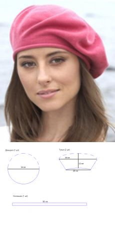 Barettmuster: - Barettmuster tutorielsdecouture - Her Crochet Tunic Sewing Patterns, Hat Patterns To Sew, Hand Embroidery Patterns, Sewing Scarves, Hat Day, Diy Scarf, Diy Hat, Pattern Cutting, Hat Making