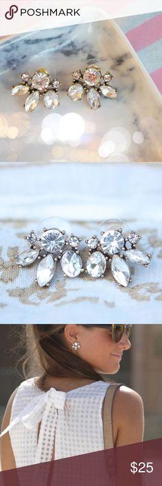 J. Crew Stud Earrings Lovely delicate crystal stud earrings J. Crew Jewelry Earrings