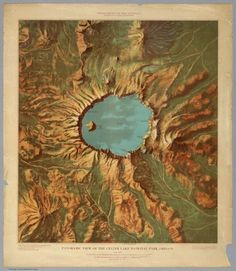 bobbycaputo: Gorgeous 1914 Relief Maps of Six National Parks