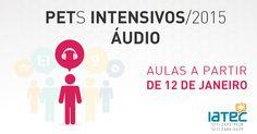 Arte de anúncio dos PETs Intensivos - Áudio - 2015