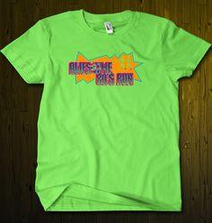 """Slimer Lime"" 80s t-shirt. 80s fashion. 80s apparel"