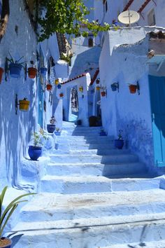 The Blue City - Chefchaouen Morocco, Places Around The World, The Places Youll Go, Places To See, Around The Worlds, Chefchaouen Morocco, Beautiful World, Beautiful Places, Beautiful Streets, Blue City