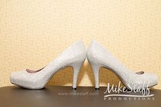 Glitterly silver wedding pumps #Michiganwedding #Chicagowedding #MikeStaffProductions #wedding #reception #weddingphotography #weddingdj #weddingvideography #wedding #photos #wedding #pictures #ideas #planning #DJ #photography #shoes #bride