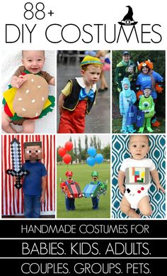 80+ DIY Costumes - so many adorable ideas for everyone!
