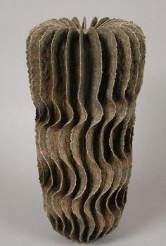 Ursula Morley Price | Brown Tower Form, 2002.  Stoneware.