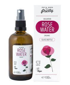 Зоя.БГ - Био розова вода в стъкло и спрей 100 мл Organic Glass, Rose Water, Glass Bottles, Whiskey Bottle, Drinks, Pretty, Drinking, Beverages, Drink