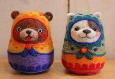 Pet Dogs, Dog Cat, Wool Needle Felting, Matryoshka Doll, Ab Workouts, Learn To Draw, Felt Crafts, Cute Animals, Crafty