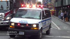 NYPD Police Van Responding