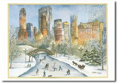 Central Park - by Stationers Guild #nycchristmas  #centralpark