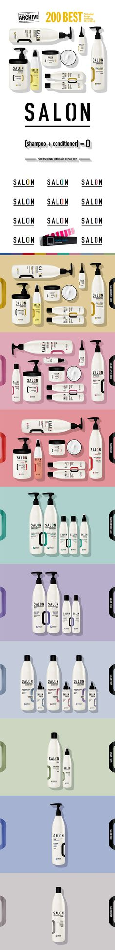 SALON - Professional hair care cosmetics packaging design - branding.