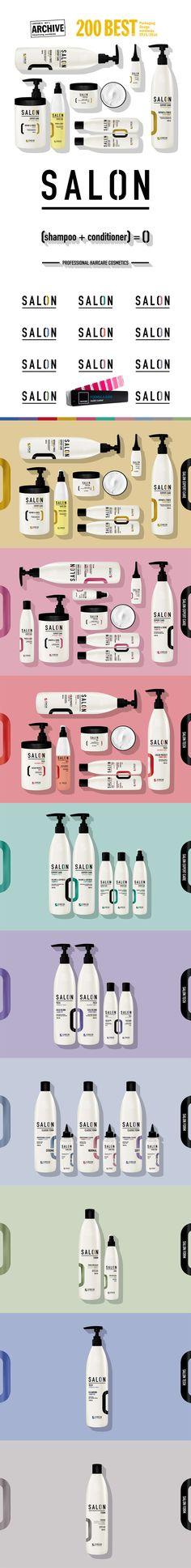 SALON - Professional hair care cosmetics packaging design - branding.