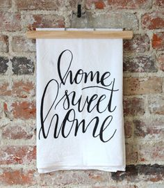 home sweet home kitchen dish towel
