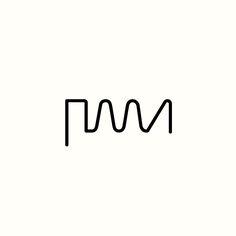 PMA Waveform Monogram by Richard Baird. (Available). #logo #design #branding