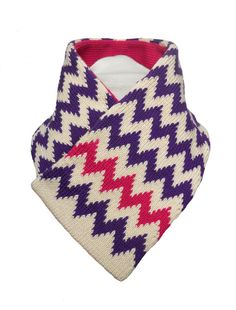 Reversible Collar Scarf  Purple Cream and Fuchsia by rheaclements, £38.00