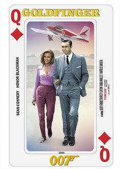 Bond Cards series collage by PMitchel #seanconnery #honorblackman #007…