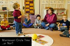 Should there be Circle time in a Montessori school? Consider all the points before incorporating Circle Time in your classroom. Montessori Theory, Montessori Preschool, Preschool Curriculum, Preschool Learning, Toddler Preschool, Teaching, Toddler Classroom, Preschool Classroom, Classroom Activities