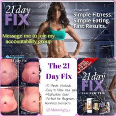 Have you seen the crazy weight loss with 21 Day Fix? It's a simple fitness and eating program that helps you lose weight without counting calories, carbs, or points. I have a few spots left in my next challenge group, who wants to lose up to 15 lbs in 21 days? To get it now click here: http://beachbodycoach.com/esuite/home/AFanning542?bctid=3751762773001 Message me here or on my personal page for more info: www.facebook.com/afanning542