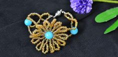 Pandahall Jewelry - How to Make a Beaded Sunflower Charm Bracelet