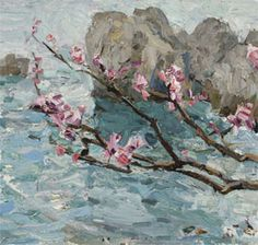 Peach blossoms, by Russian impressionist Peter Goronov