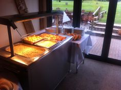 Hog roast- when the weather isn't brilliant we don't make guests stand outside in the cold- we bring it all inside!