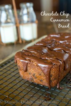 Chocolate Chip Cinnamon Bread - a great treat this holiday season. Make as gifts, or keep it for yourself!: Chocolate Chip Cinnamon Bread - a great treat this holiday season. Make as gifts, or keep it for yourself!