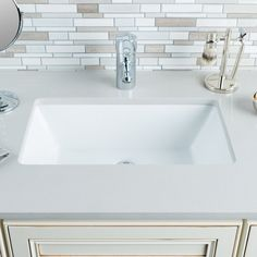 "View the Miseno MNO2113RU Rectangular 18-1/2"" Undermount Bathroom Sink at Build.com."
