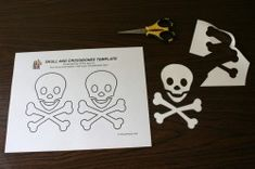 free printable skull and cross bones template and eye patch template