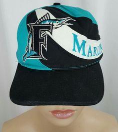 fe4dd4c65fe3e VTG Florida Marlins Twins Enterprise Color Stripe SNAPBACK CAP Hat MLB  Baseball  TwinsEnterprisesInc  FloridaMarlins