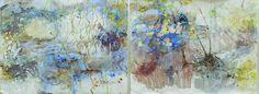 Natural history of a sphagnum bog - Lake Ina, Tas / John Wolseley [Courtesy: Roslyn Gallery, Sydney ; Watercolor Landscape, Landscape Paintings, Nature Prints, Handmade Books, Environmental Art, Australian Artists, Mark Making, Natural History, Great Artists