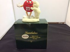 COLLECTIBLE Snowbabies M&M's Candy Red Is My Favorite Color! Department 56 w/box