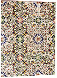 Zellige - I have always loved Moroccan tile/mosaic patterns, but only found out now that it has a name! Morrocan Bathroom, Morrocan Decor, Moroccan Tiles, Arabesque, Mediterranean Tile, Spanish Tile, White Home Decor, White Houses, Kitchen Tiles