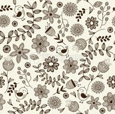 Floral seamless pattern Royalty Free Stock Vector Art Illustration