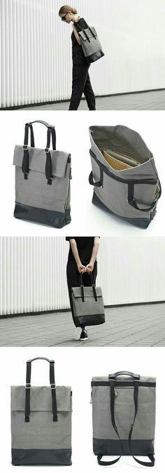 Prada Nero Tessuto Suffian Black Nylon and Leather Shopping Tote Bag Style: Prada Shopping Tote Material: Tessuto (Nylon) + Saffian (Leather) Yanko Design, Design Tech, Design Design, Bag Design, Design Ideas, Mochila Jeans, Backpack Bags, Tote Bag, Fabric Bags