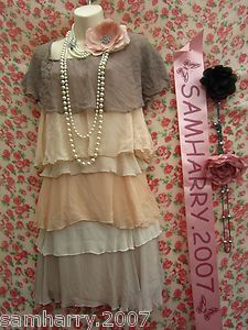 Ruffle flapper dress
