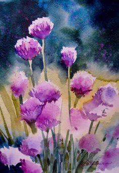 Chives ... Kathy Los-Rathburn Watercolors