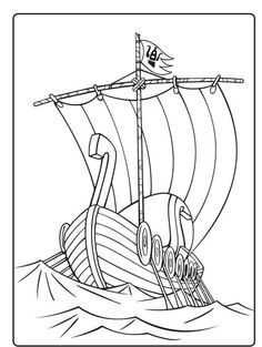 coloring page the Vikings