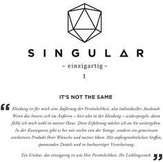 Singular - Fashion branding on Behance