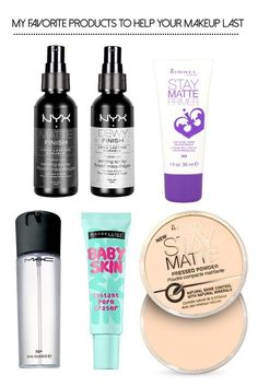It's taken me years to find the perfect products for my oily/combination skin, but I wanted to share a quick roundup of primers, powders, and sprays that help my makeup last all-day.