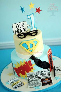 Superhero Dad Cake For Father's Day!