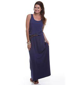 Vestido Longo Feminino com Cinto de Corda - Lojas Renner