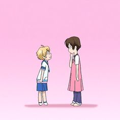 Mitskuni and Haruhi from Ouran High School Host Club High School Host Club, School Clubs, Colégio Ouran Host Club, Ouran Highschool Host Club, Manga Anime, Fanarts Anime, Anime Meme, Otaku, Cosplay Steampunk