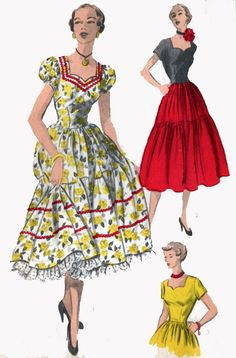 1950s Advance 5549 Rockabilly Dress with Puff by sandritocat, $22.00
