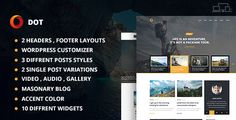 Dot Blog Pro - Creative Blog WordPress Theme - Blog / Magazine WordPress Download here: