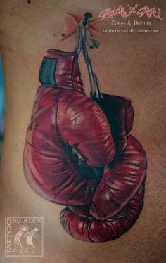 boxing glove tattoo google search your body is a canvas rh pinterest com Small Boxing Glove Tattoo Outline tattoo boxing gloves old school