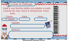 Convite gratuito para imprimir, rótulos, etc...kit Ursinho Marinheiro, azul marinho e vermelho.