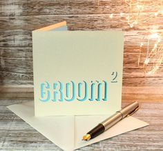 Groom Squared Gay wedding Card by ParadisePapercraft on Etsy