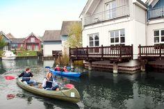 Die Marina Wolfsbruch ist Deutschlands erstes Hafendorf in Rheinsberg an der Mecklenburgische Seenplatte - bekannt durch Schloss Rheinsberg