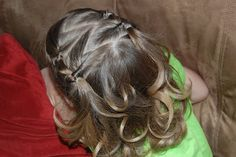 cute hairstyle for a little one with short hair