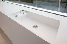 Creating your #designs to work with your space. #himacs #bespoke #kitchen #sink #interiordesign